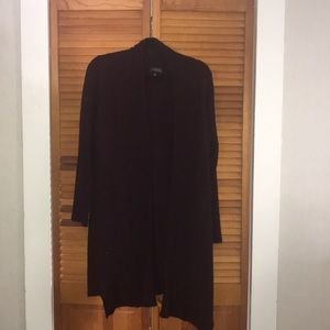 Maroon long cardigan
